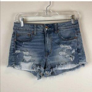 American Eagle | Hi Rise Festival Blue Jean Shorts
